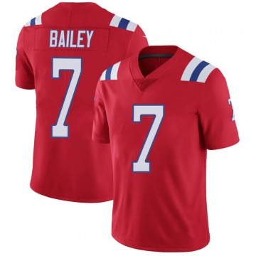 Youth Nike New England Patriots Jake Bailey Red Vapor Untouchable Alternate Jersey - Limited