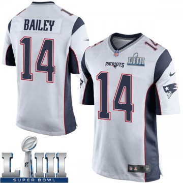 33d39e540e2 Youth Nike New England Patriots Jake Bailey White Super Bowl LIII Jersey -  Game
