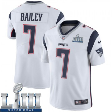Youth Nike New England Patriots Jake Bailey White Super Bowl LIII Vapor Untouchable Jersey - Limited