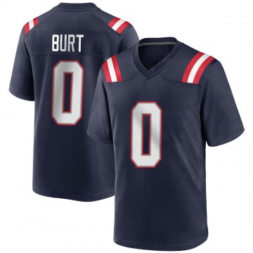 Youth Nike New England Patriots Jake Burt Navy Blue Team Color Jersey - Game
