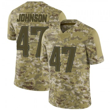 Youth Nike New England Patriots Jakob Johnson Camo 2018 Salute to Service Jersey - Limited