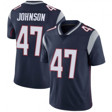 Youth Nike New England Patriots Jakob Johnson Navy 100th Vapor Jersey - Limited