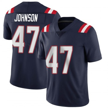 Youth Nike New England Patriots Jakob Johnson Navy Team Color Vapor Untouchable Jersey - Limited