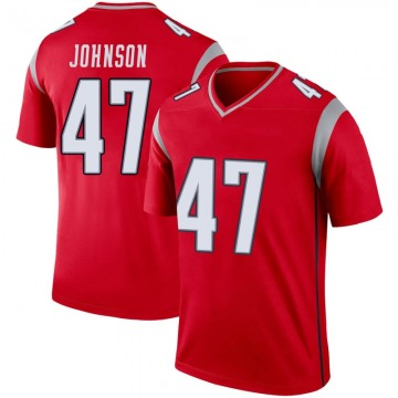 Youth Nike New England Patriots Jakob Johnson Red Inverted Jersey - Legend