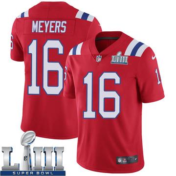 Youth Nike New England Patriots Jakobi Meyers Red Super Bowl LIII Vapor Untouchable Alternate Jersey - Limited