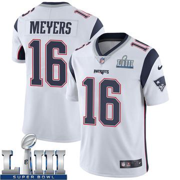 Youth Nike New England Patriots Jakobi Meyers White Super Bowl LIII Vapor Untouchable Jersey - Limited