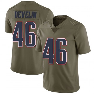 Youth Nike New England Patriots James Develin Green 2017 Salute to Service Jersey - Limited