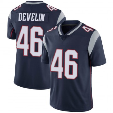 Youth Nike New England Patriots James Develin Navy 100th Vapor Jersey - Limited