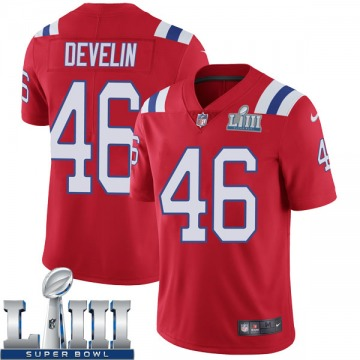 Youth Nike New England Patriots James Develin Red Super Bowl LIII Vapor Untouchable Alternate Jersey - Limited