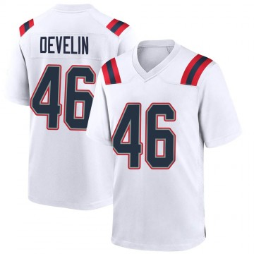 Youth Nike New England Patriots James Develin White Jersey - Game