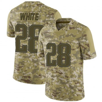 Youth Nike New England Patriots James White White Camo 2018 Salute to Service Jersey - Limited