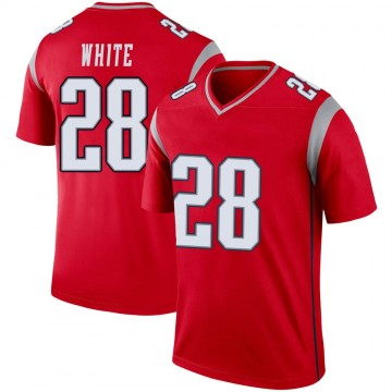 Youth Nike New England Patriots James White White Inverted Red Jersey - Legend