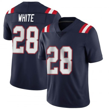 Youth Nike New England Patriots James White White Navy Team Color Vapor Untouchable Jersey - Limited