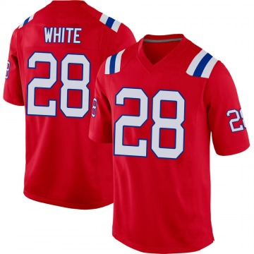 Youth Nike New England Patriots James White White Red Alternate Jersey - Game