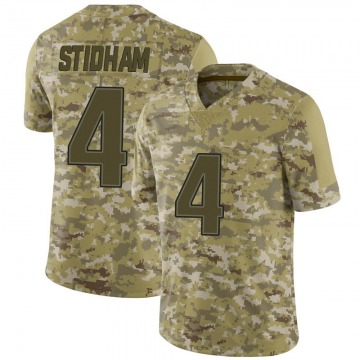 Youth Nike New England Patriots Jarrett Stidham Camo 2018 Salute to Service Jersey - Limited