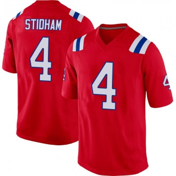 Youth Nike New England Patriots Jarrett Stidham Red Alternate Jersey - Game