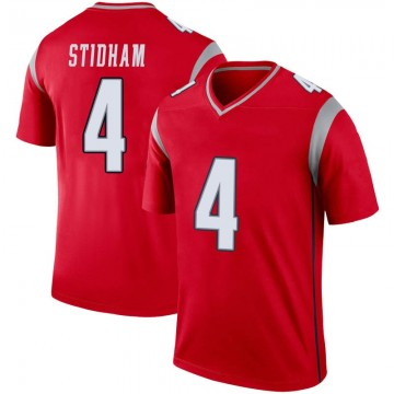 Youth Nike New England Patriots Jarrett Stidham Red Inverted Jersey - Legend