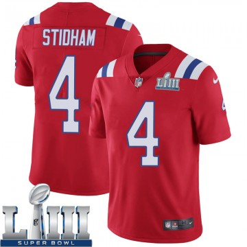 Youth Nike New England Patriots Jarrett Stidham Red Super Bowl LIII Vapor Untouchable Alternate Jersey - Limited