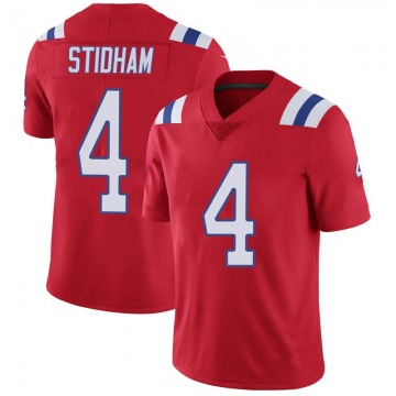 Youth Nike New England Patriots Jarrett Stidham Red Vapor Untouchable Alternate Jersey - Limited