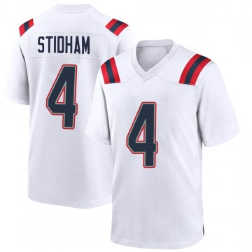 Youth Nike New England Patriots Jarrett Stidham White Jersey - Game