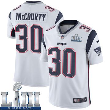 Youth Nike New England Patriots Jason McCourty White Super Bowl LIII Vapor Untouchable Jersey - Limited