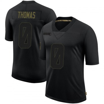 Youth Nike New England Patriots Jeff Thomas Black 2020 Salute To Service Jersey - Limited