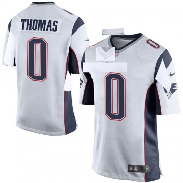 Youth Nike New England Patriots Jeff Thomas White Jersey - Game