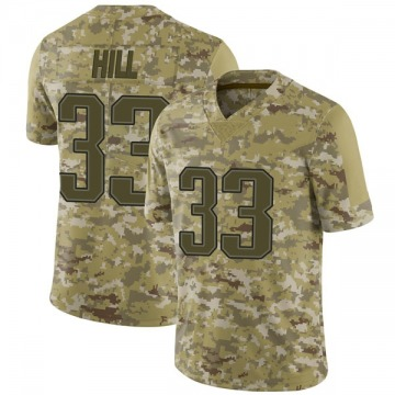 Youth Nike New England Patriots Jeremy Hill Camo 2018 Salute to Service Jersey - Limited