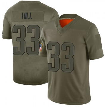 Youth Nike New England Patriots Jeremy Hill Camo 2019 Salute to Service Jersey - Limited