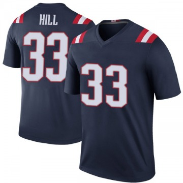 Youth Nike New England Patriots Jeremy Hill Navy Color Rush Jersey - Legend