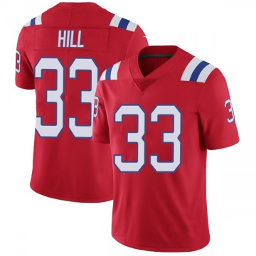 Youth Nike New England Patriots Jeremy Hill Red Vapor Untouchable Alternate Jersey - Limited