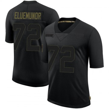 Youth Nike New England Patriots Jermaine Eluemunor Black 2020 Salute To Service Jersey - Limited