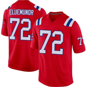 Youth Nike New England Patriots Jermaine Eluemunor Red Alternate Jersey - Game