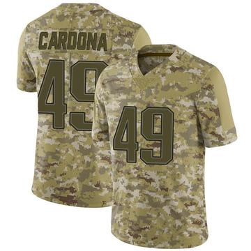 Youth Nike New England Patriots Joe Cardona Camo 2018 Salute to Service Jersey - Limited