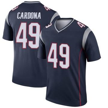 Youth Nike New England Patriots Joe Cardona Navy Jersey - Legend