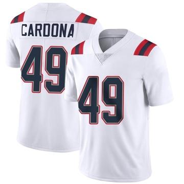 Youth Nike New England Patriots Joe Cardona White Vapor Untouchable Jersey - Limited