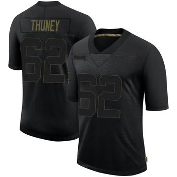 Youth Nike New England Patriots Joe Thuney Black 2020 Salute To Service Jersey - Limited