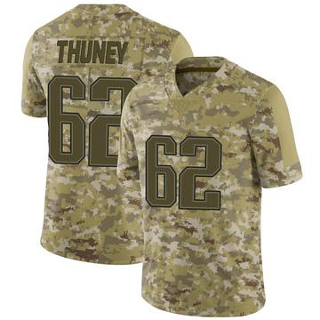 Youth Nike New England Patriots Joe Thuney Camo 2018 Salute to Service Jersey - Limited