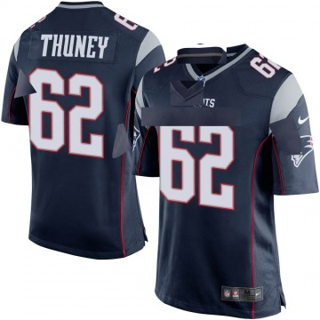 Youth Nike New England Patriots Joe Thuney Navy Blue Team Color Jersey - Game