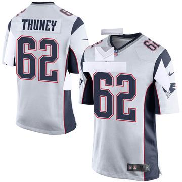 Youth Nike New England Patriots Joe Thuney White Jersey - Game