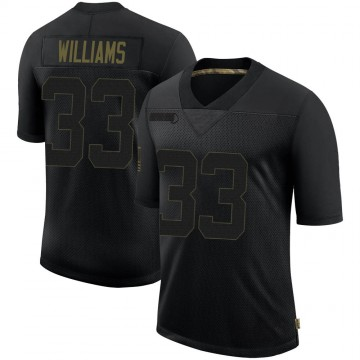 Youth Nike New England Patriots Joejuan Williams Black 2020 Salute To Service Jersey - Limited