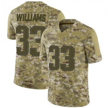 Youth Nike New England Patriots Joejuan Williams Camo 2018 Salute to Service Jersey - Limited