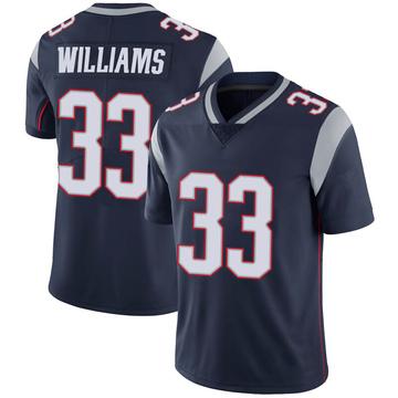 Youth Nike New England Patriots Joejuan Williams Navy 100th Vapor Jersey - Limited