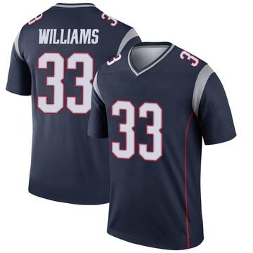 Youth Nike New England Patriots Joejuan Williams Navy Jersey - Legend