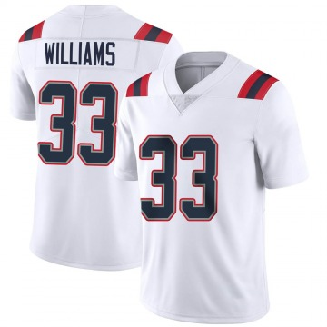 Youth Nike New England Patriots Joejuan Williams White Vapor Untouchable Jersey - Limited