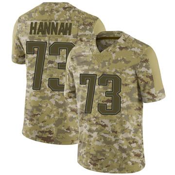 Youth Nike New England Patriots John Hannah Camo 2018 Salute to Service Jersey - Limited