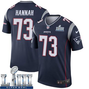 Youth Nike New England Patriots John Hannah Navy Super Bowl LIII Jersey - Legend