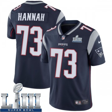 Youth Nike New England Patriots John Hannah Navy Team Color Super Bowl LIII Vapor Untouchable Jersey - Limited