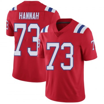 Youth Nike New England Patriots John Hannah Red Vapor Untouchable Alternate Jersey - Limited