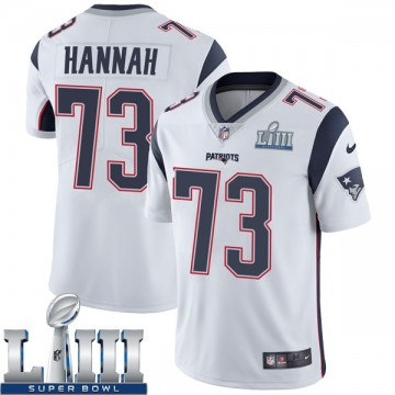 Youth Nike New England Patriots John Hannah White Super Bowl LIII Vapor Untouchable Jersey - Limited